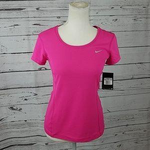 Nike XS Dri Fit Contour pink running top